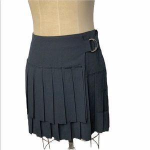 Endless Rose pleated faux wrap mini skirt